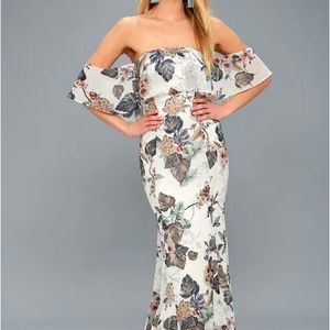 lulus's Ray of Sunshine Floral Maxi Dress Size S